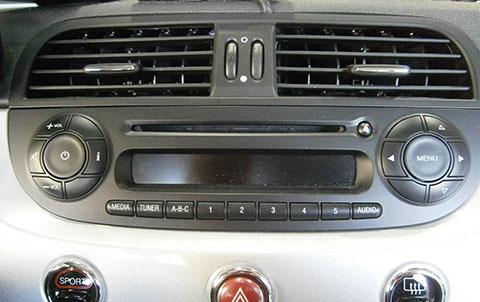 fiat radio code radio removal