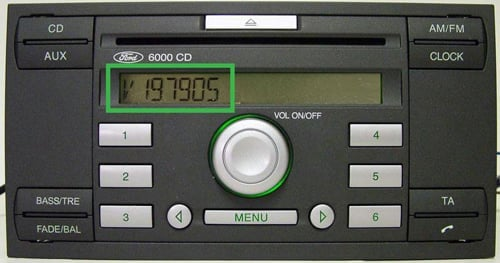Ford Radio Code 6000 CD Serial Display