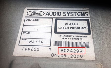 ford focus mk2 radio serial number