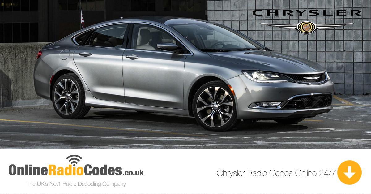Chrysler Radio Code Online Chrysler Car Radio Unlock Service